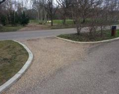 Continuous golf course edging at The Grove Golf Club